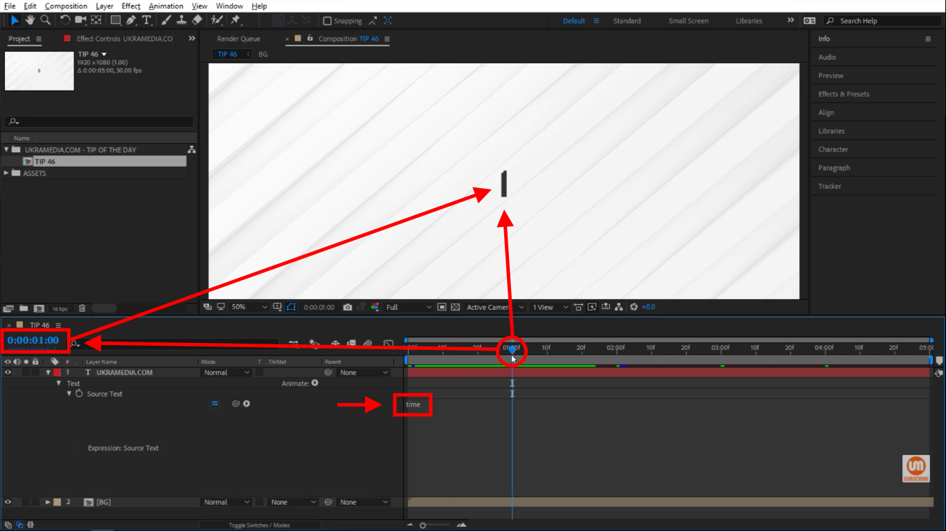 Time Adobe After Effects Expressions