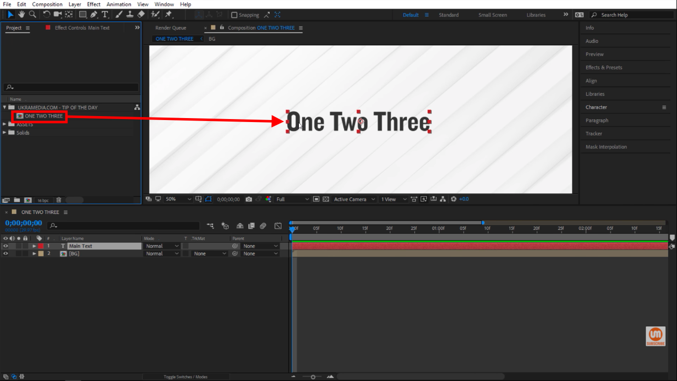 Title Composition in not case sensitive in After Effects