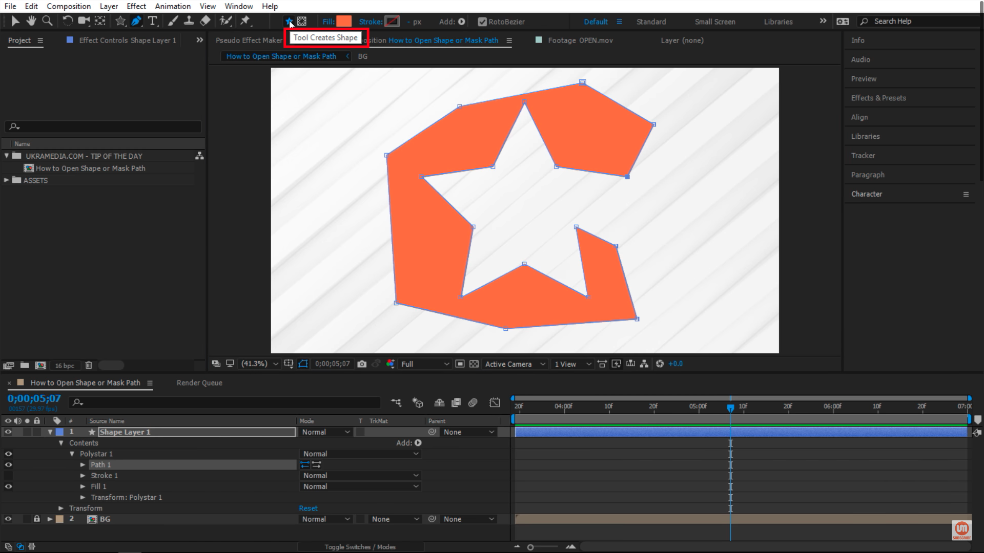 Tool Creates Shape After Effects