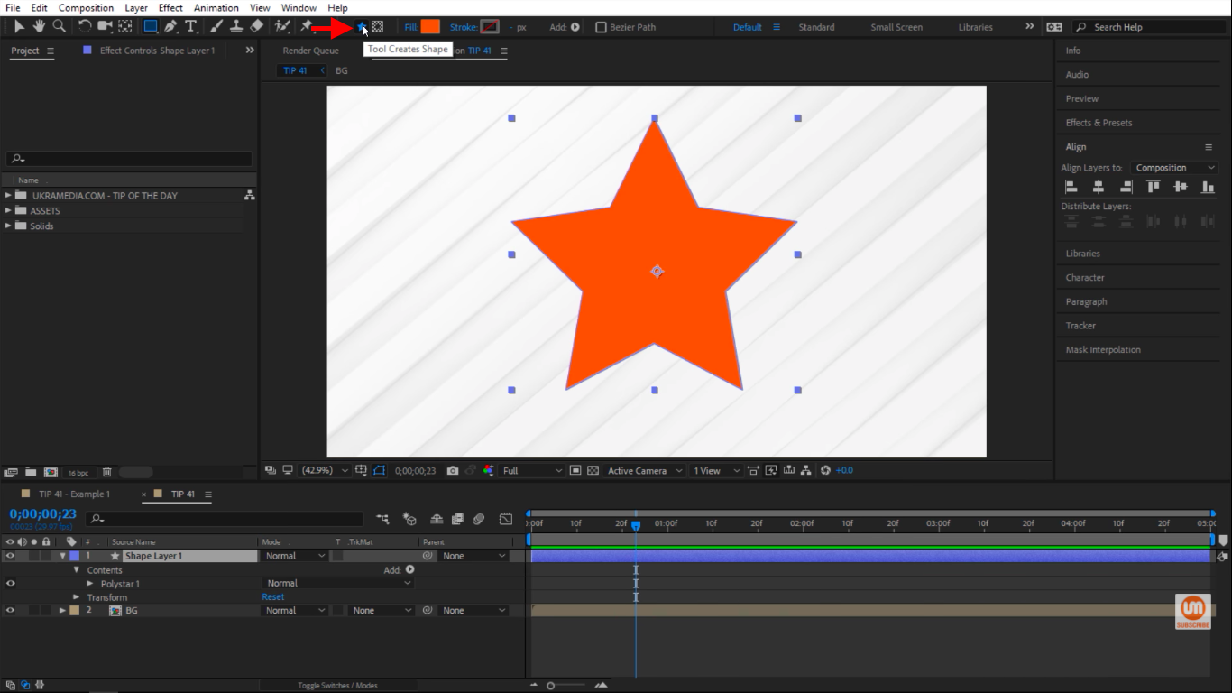 Tool Creates Shape in After Effects