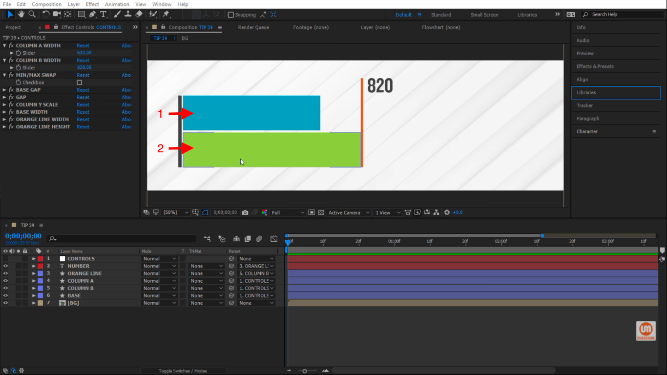 Two columns in After Effects