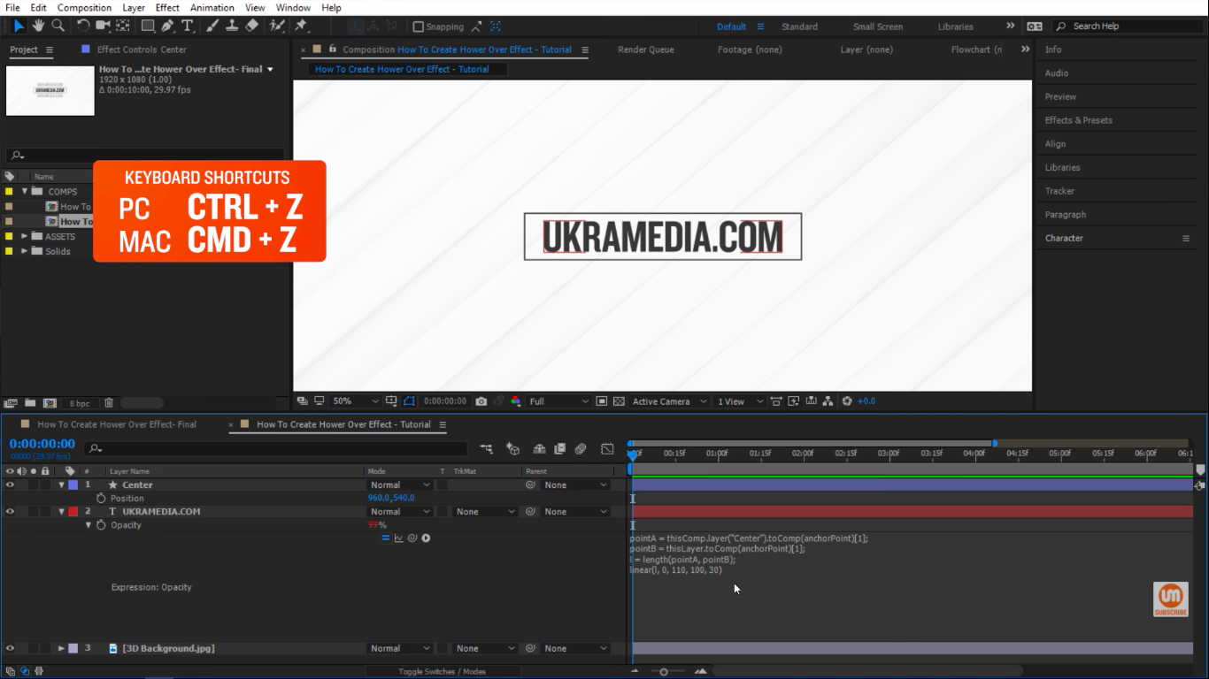 Undo After Effects