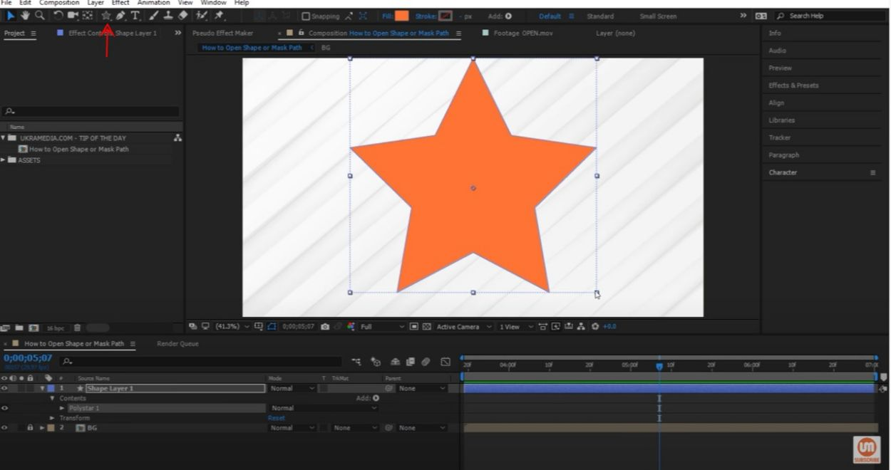 double-click-on-star-tool-after-effects