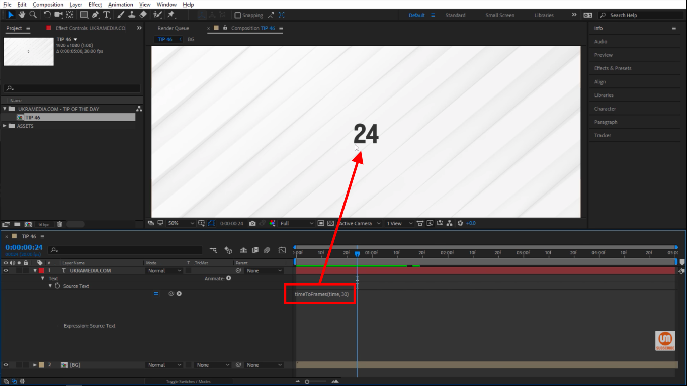 frame rate in Adobe After Effects