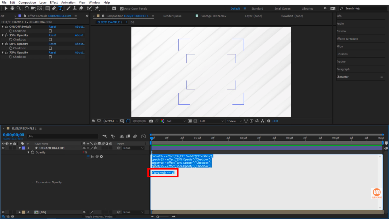if(onSwitch ==1) in After Effects