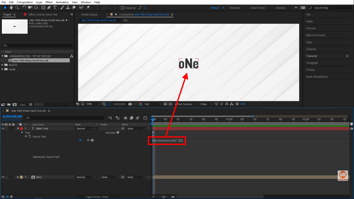 index in After Effects Expressions