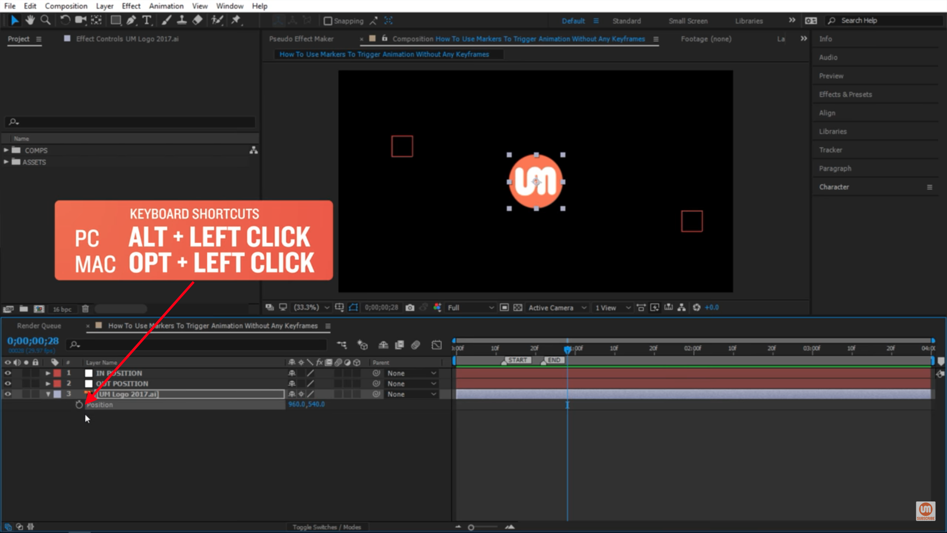 keyboard shortcut to get rid of old expressions in after effects