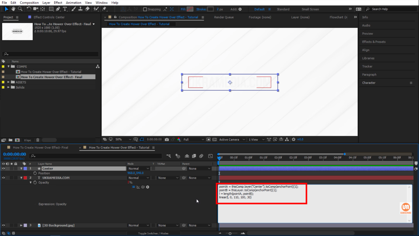 linear expressions in after effects