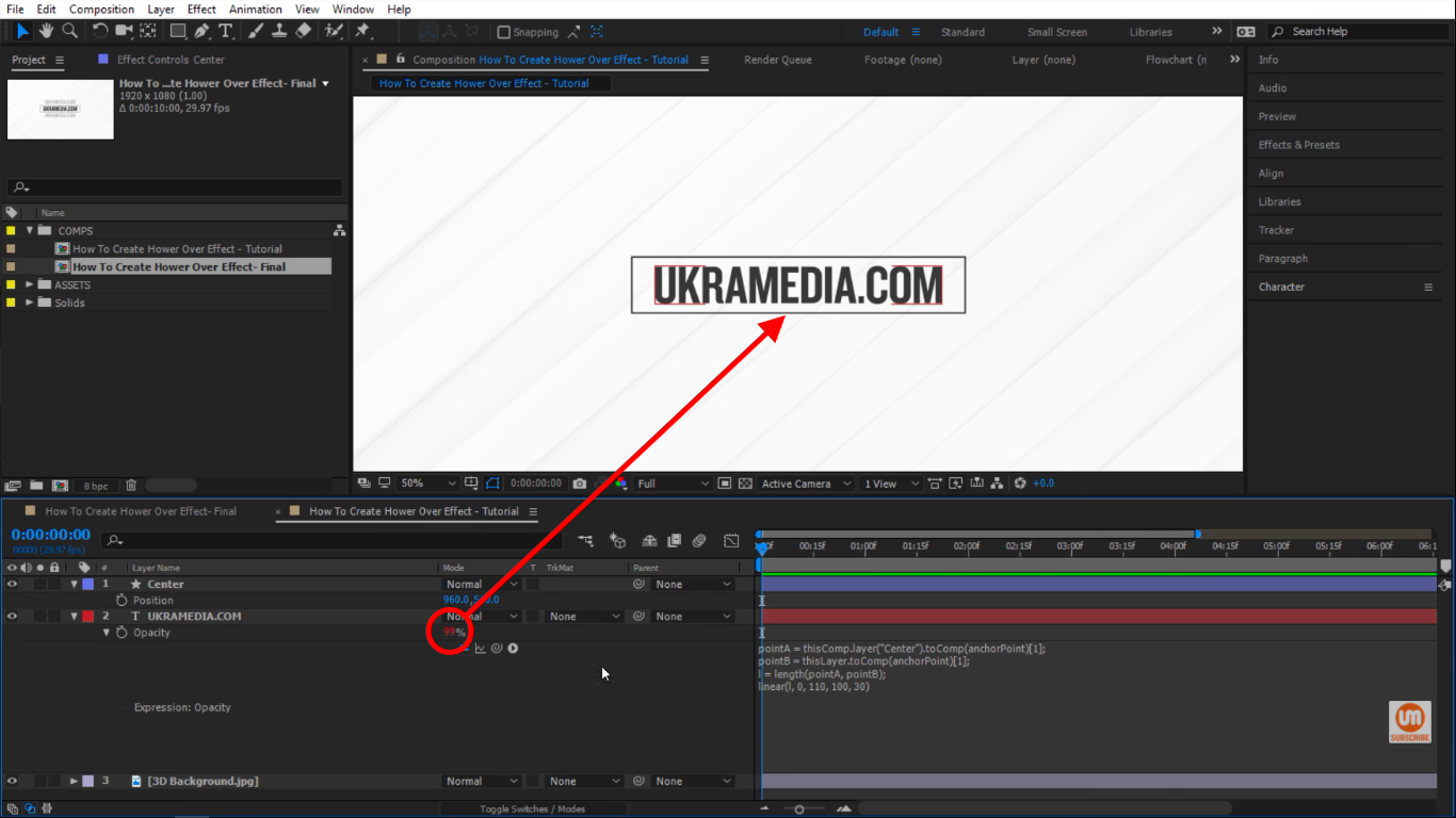 on top After Effects