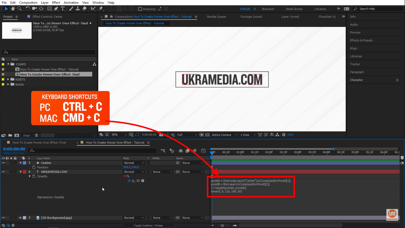 select and copy in after effects
