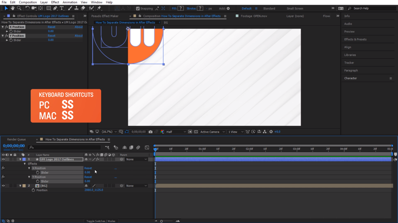 solo items in after effects keyboard shortcut