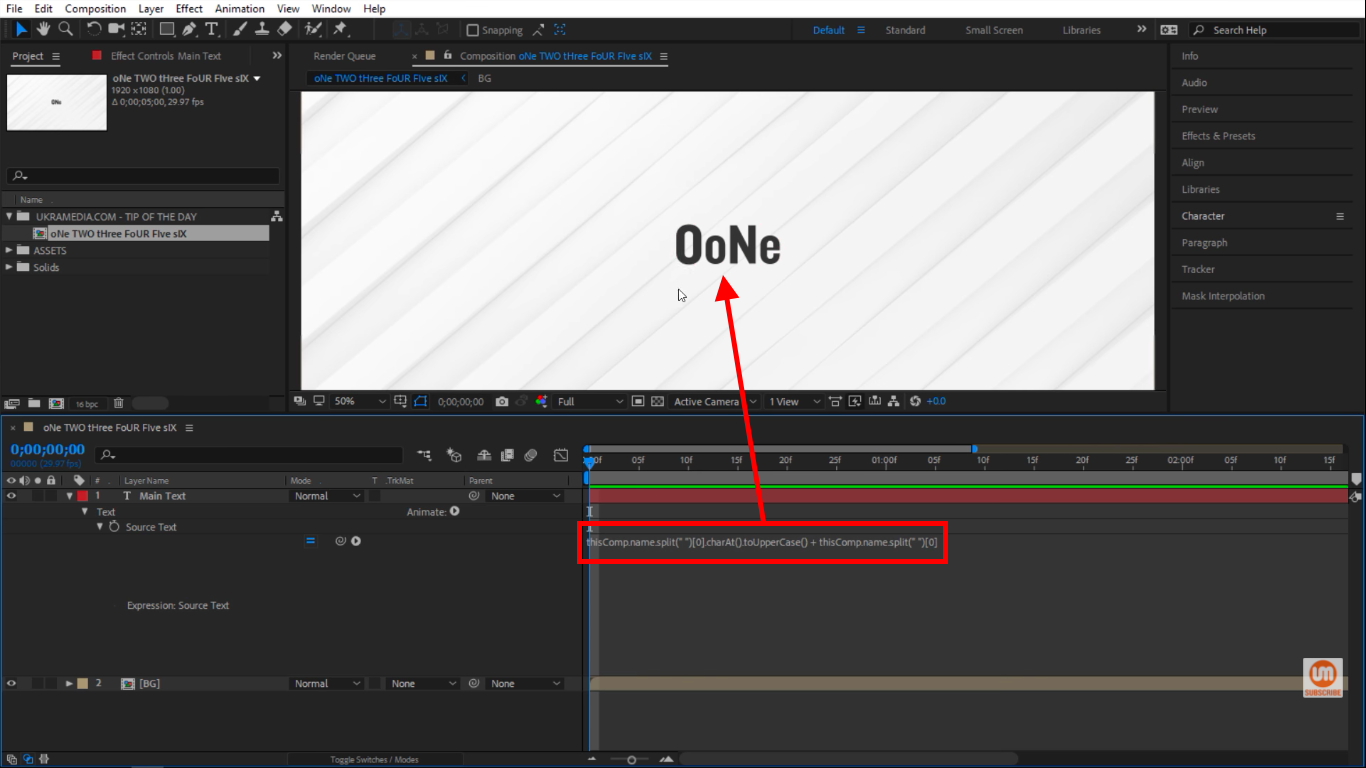 toUpperCase & toLowerCase Method in After Effects