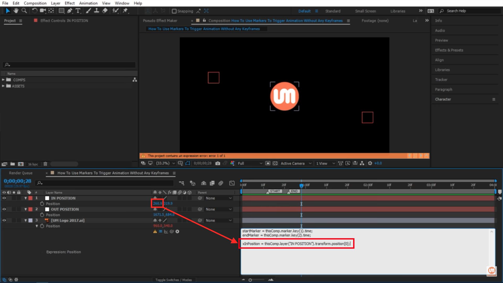 xInPosition in After Effects