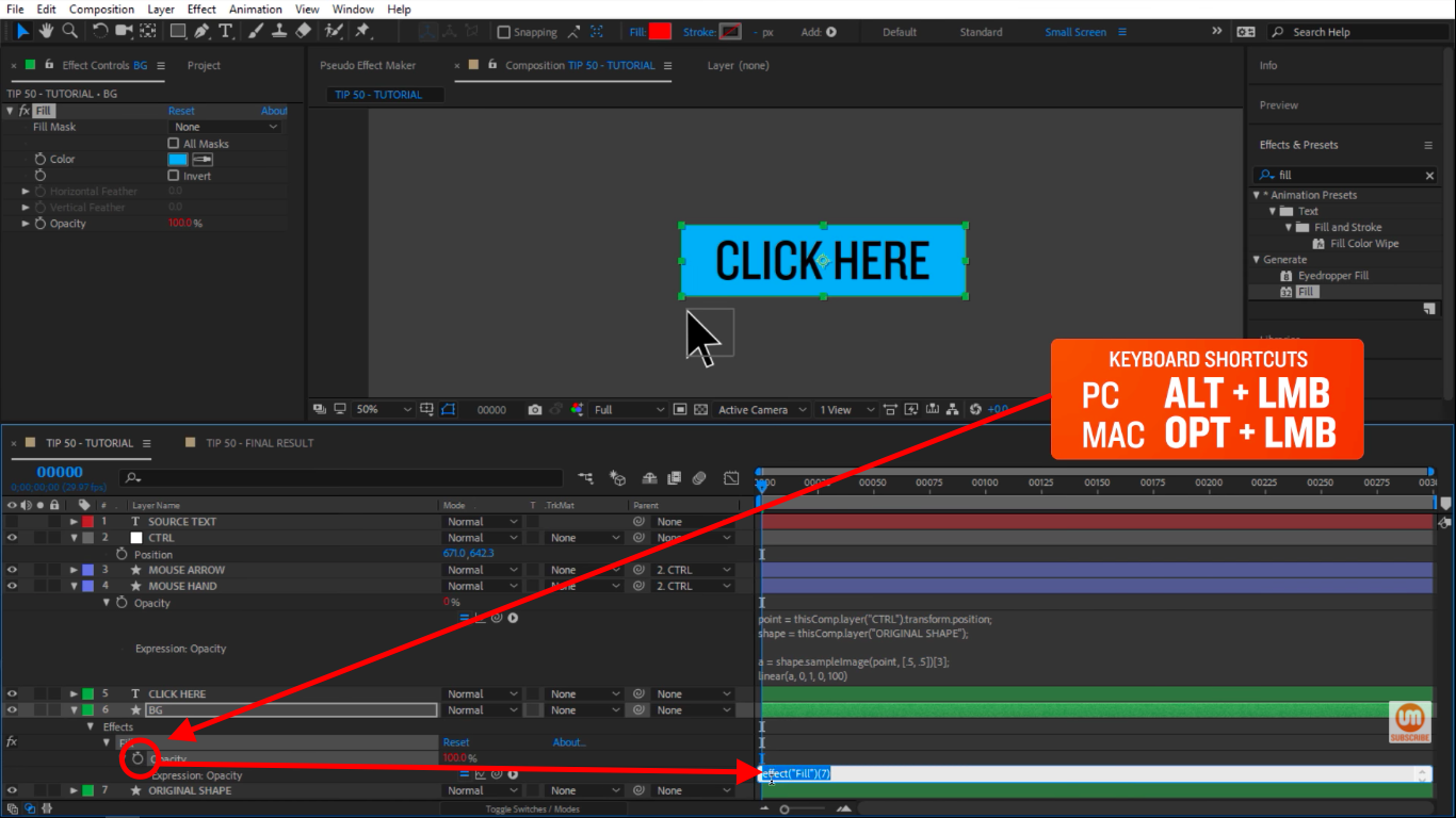 Activate expression in Adobe After Effects