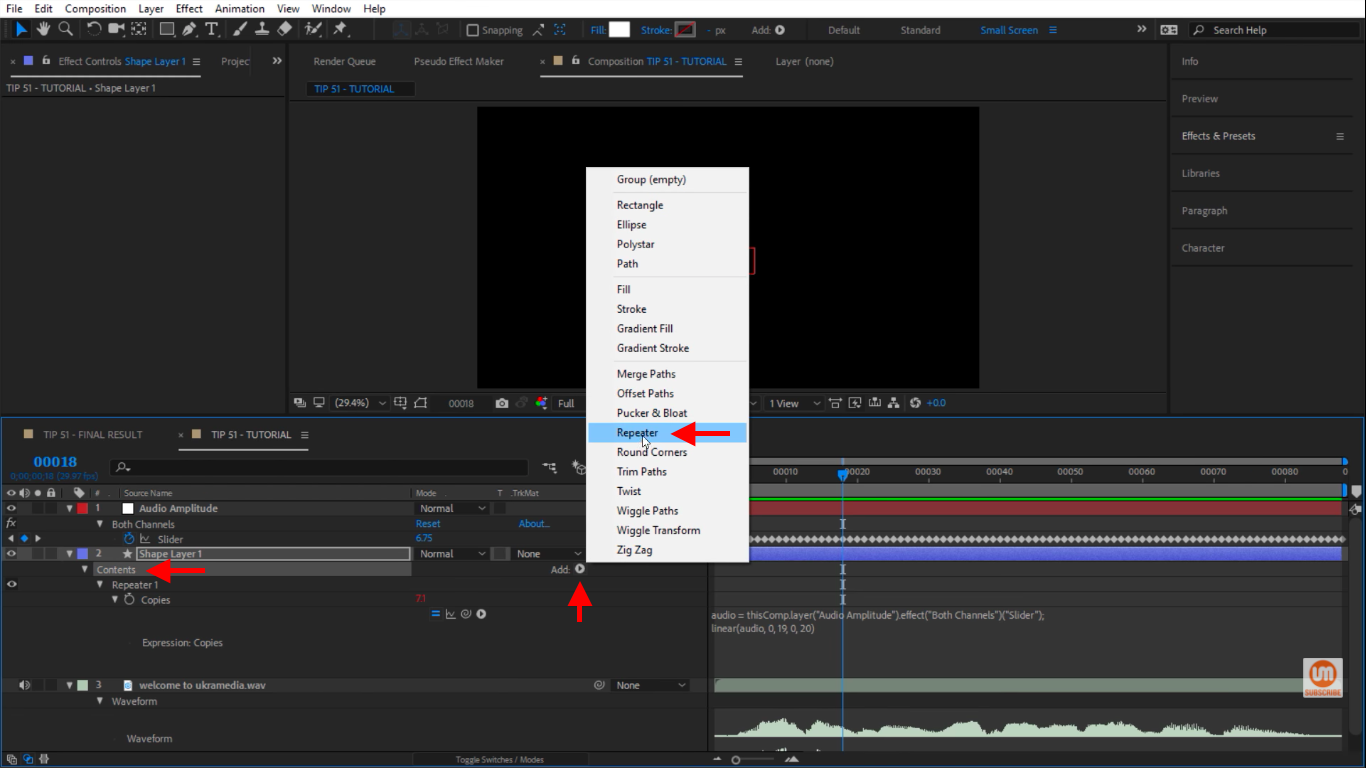 Add another repeater in After Effects
