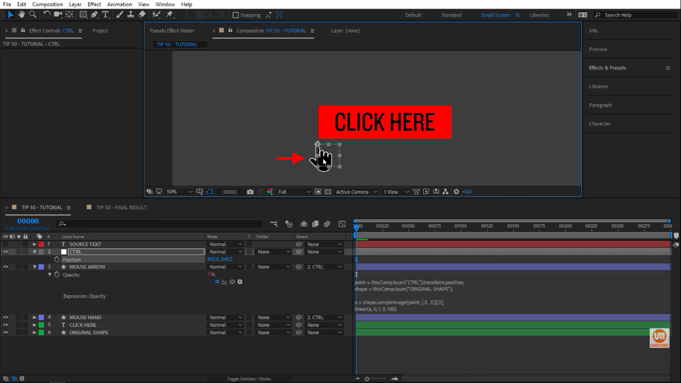 Arrow disappears in After Effects
