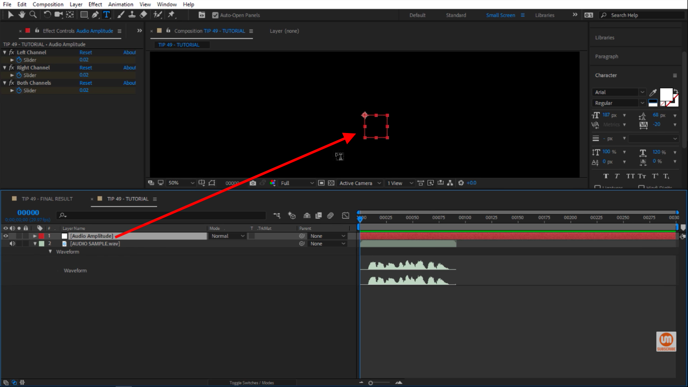 Audio Amplitude in After Effects