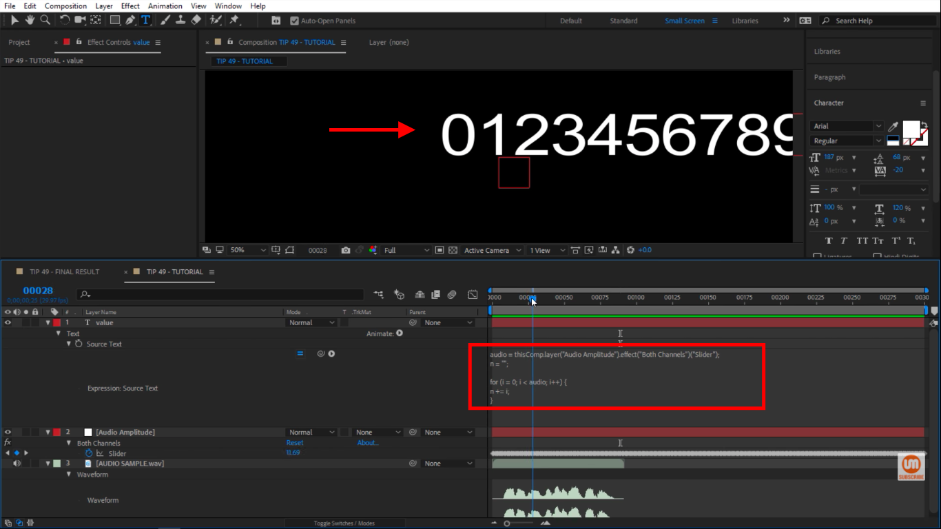 Audio Meter in After Effects