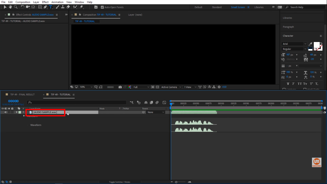 Audio level in After Effects
