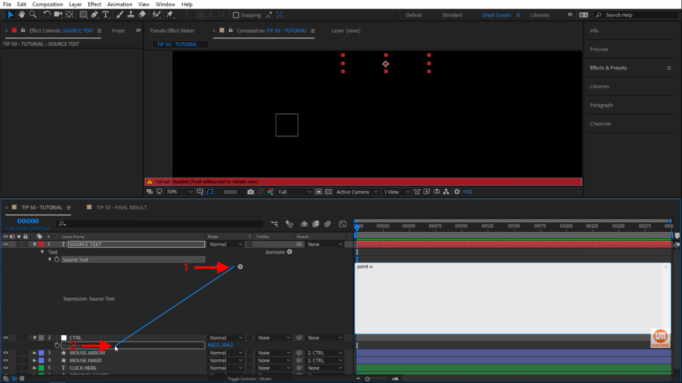 CTRL control in After Effects