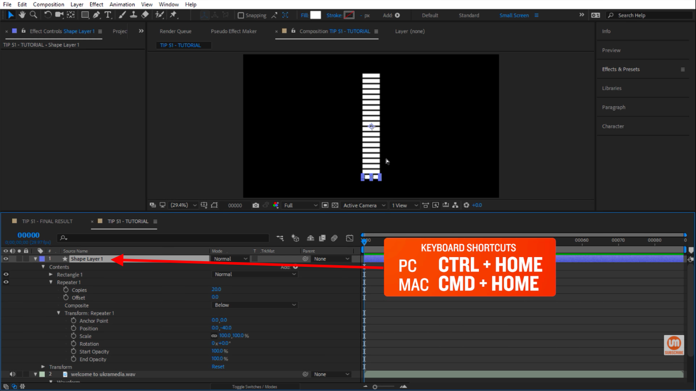 Center The Shape of After Effects