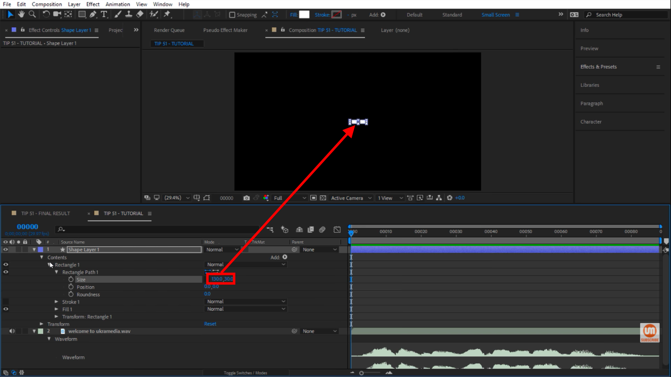 Change the size of rectangle in After Effects