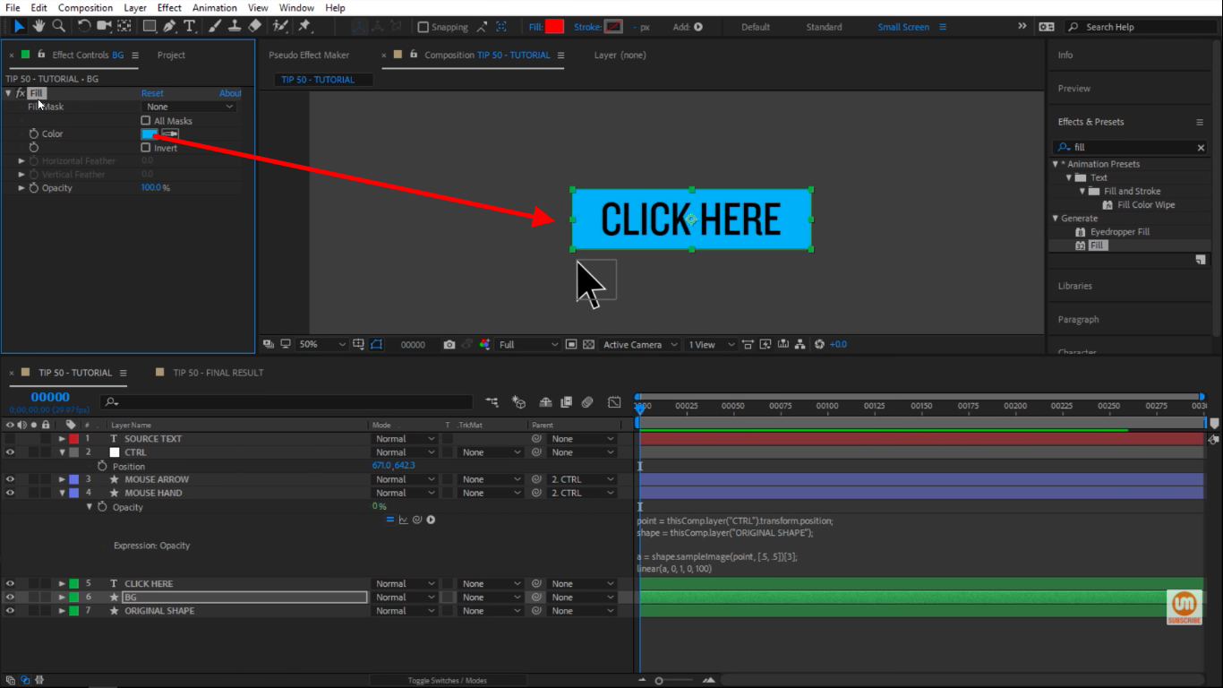 Changing color in Adobe After Effects