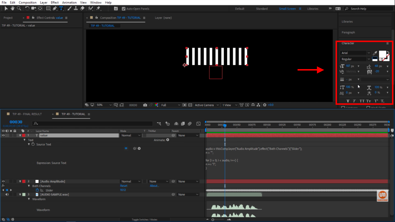 Character Options in After Effects