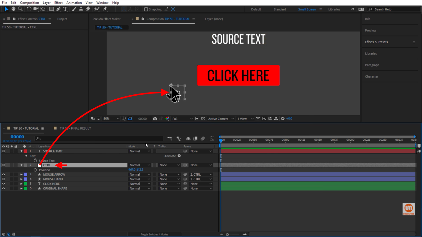 Control Null in After Effects