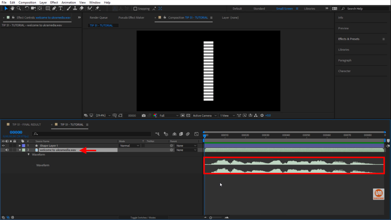 Converting Audio Waves into Keyframes in After Effects