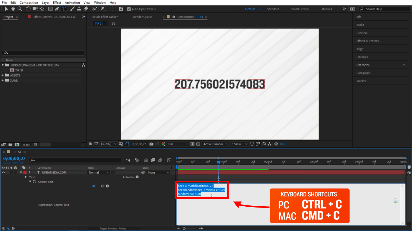 Copy in After Effects