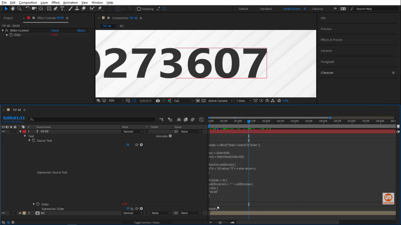 Crazy number in After Effects