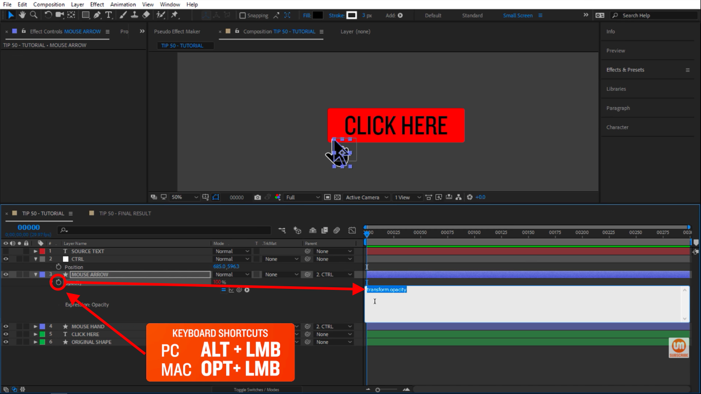 Create an expression stopwatch icon in After Effects