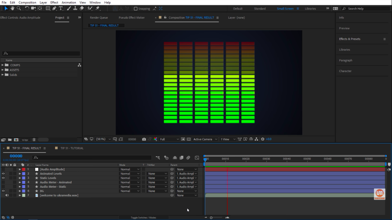 Creating an audio meter using shape layers in After Effects