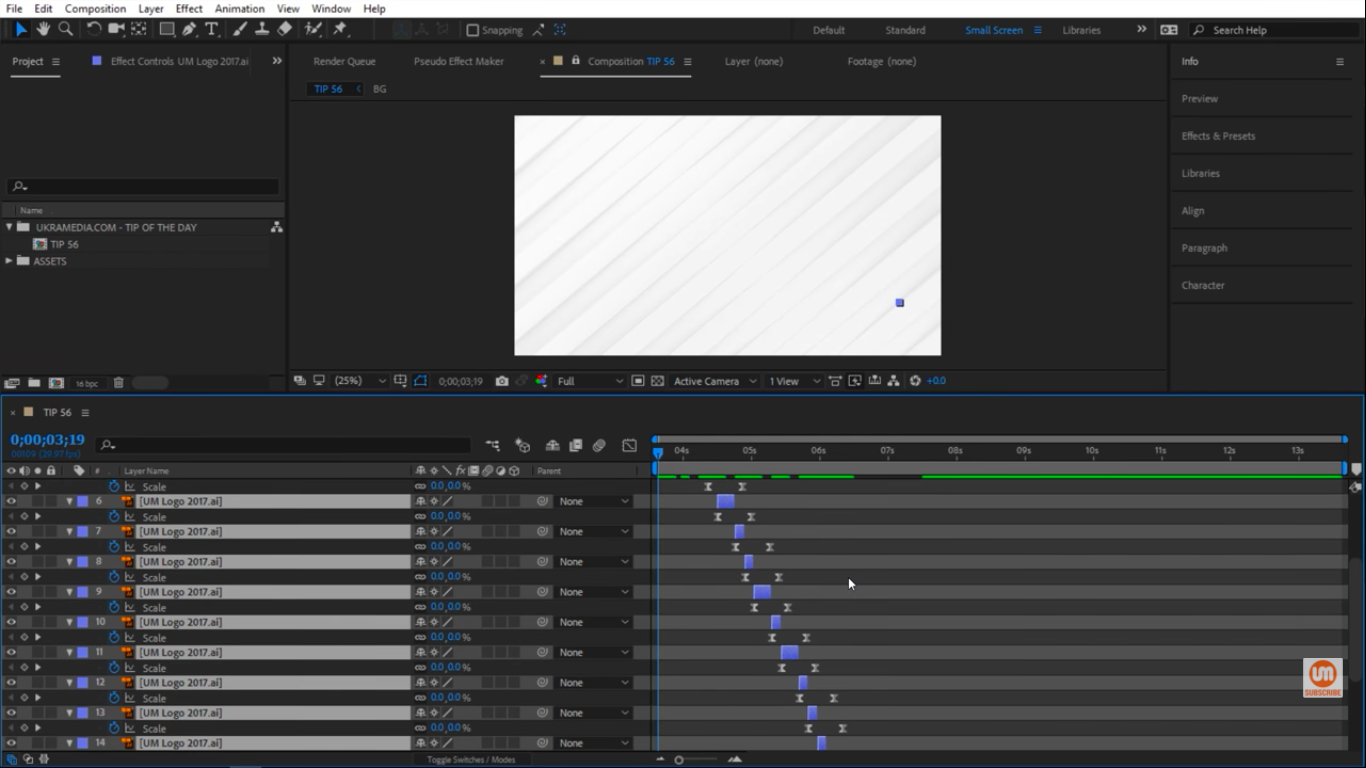 Different Offset in After Effects
