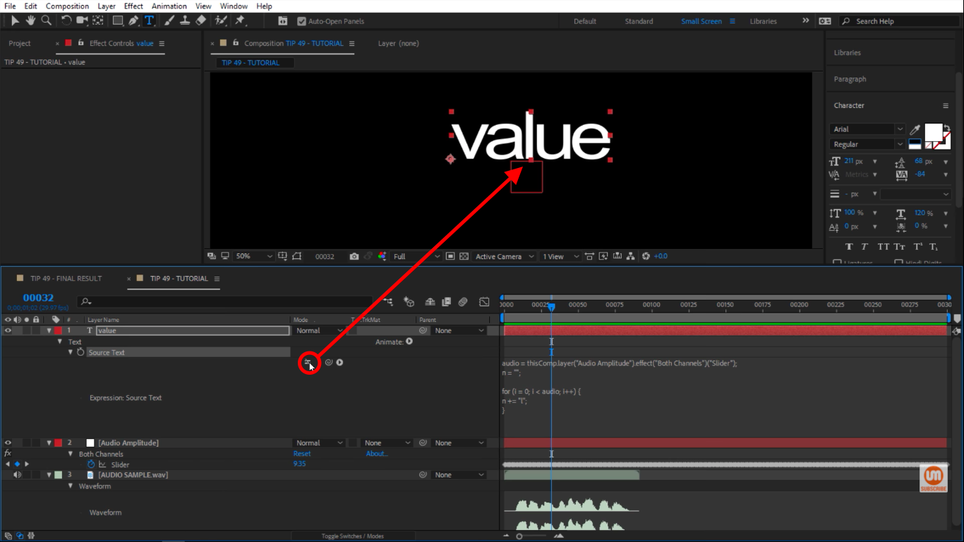 Disable expression in After Effects