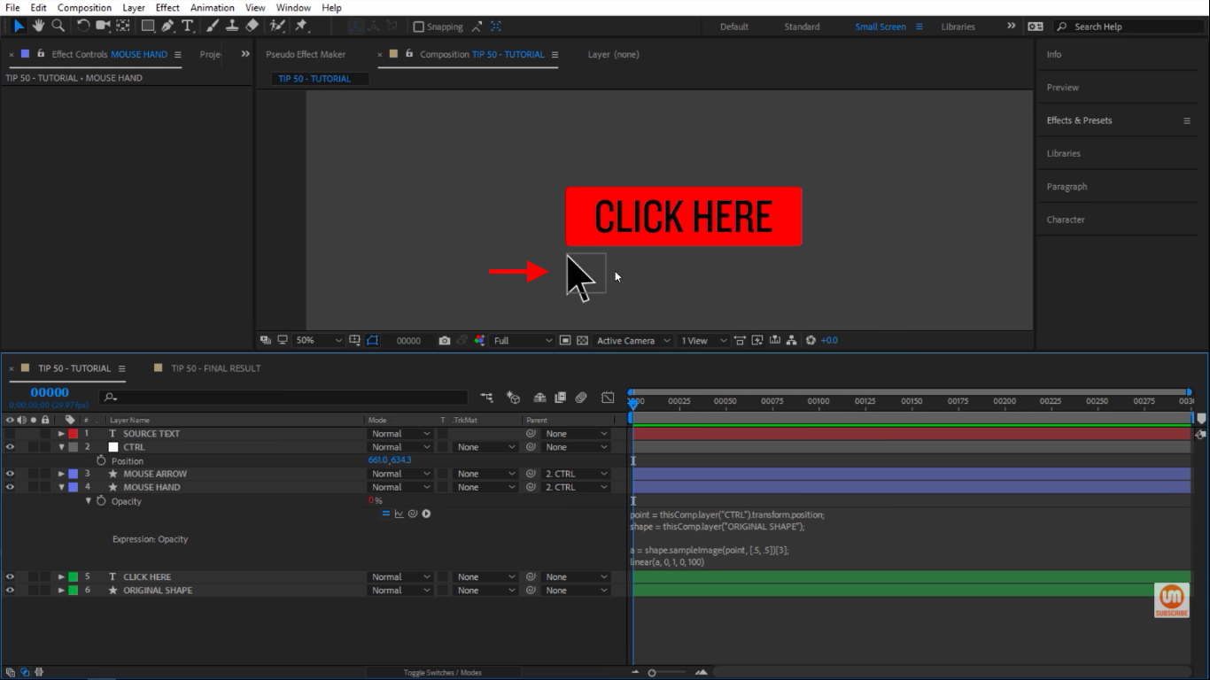 Disappeared when not hovered over the shape layer in After Effects