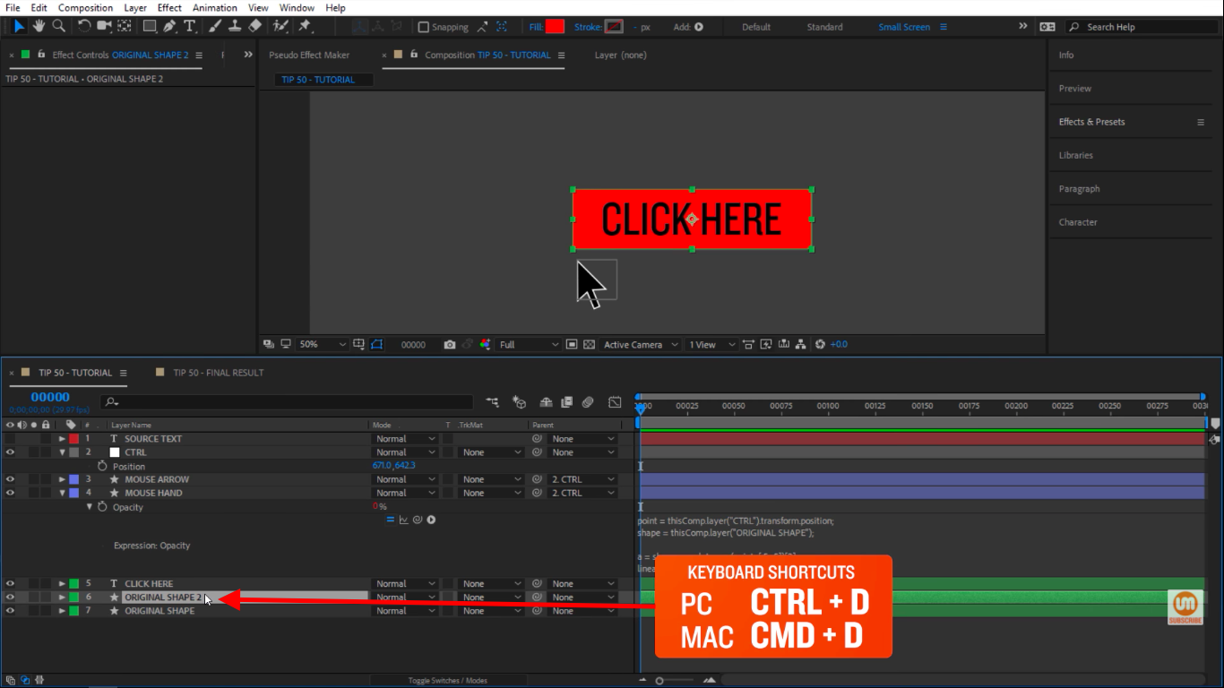 Duplicate in After Effects
