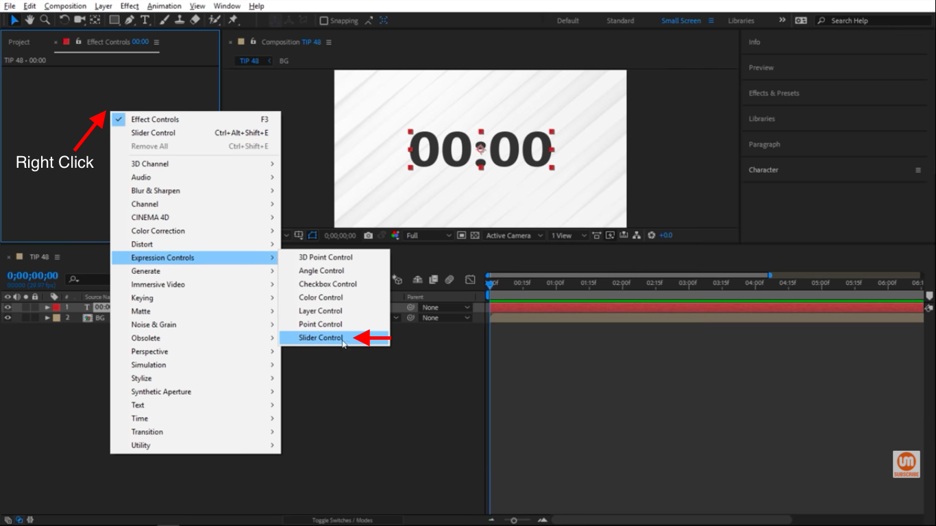 Expressions Controls - Slider Control - After Effects