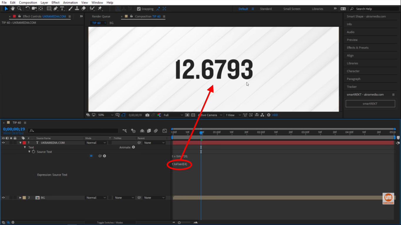 Four decimals in After Effects