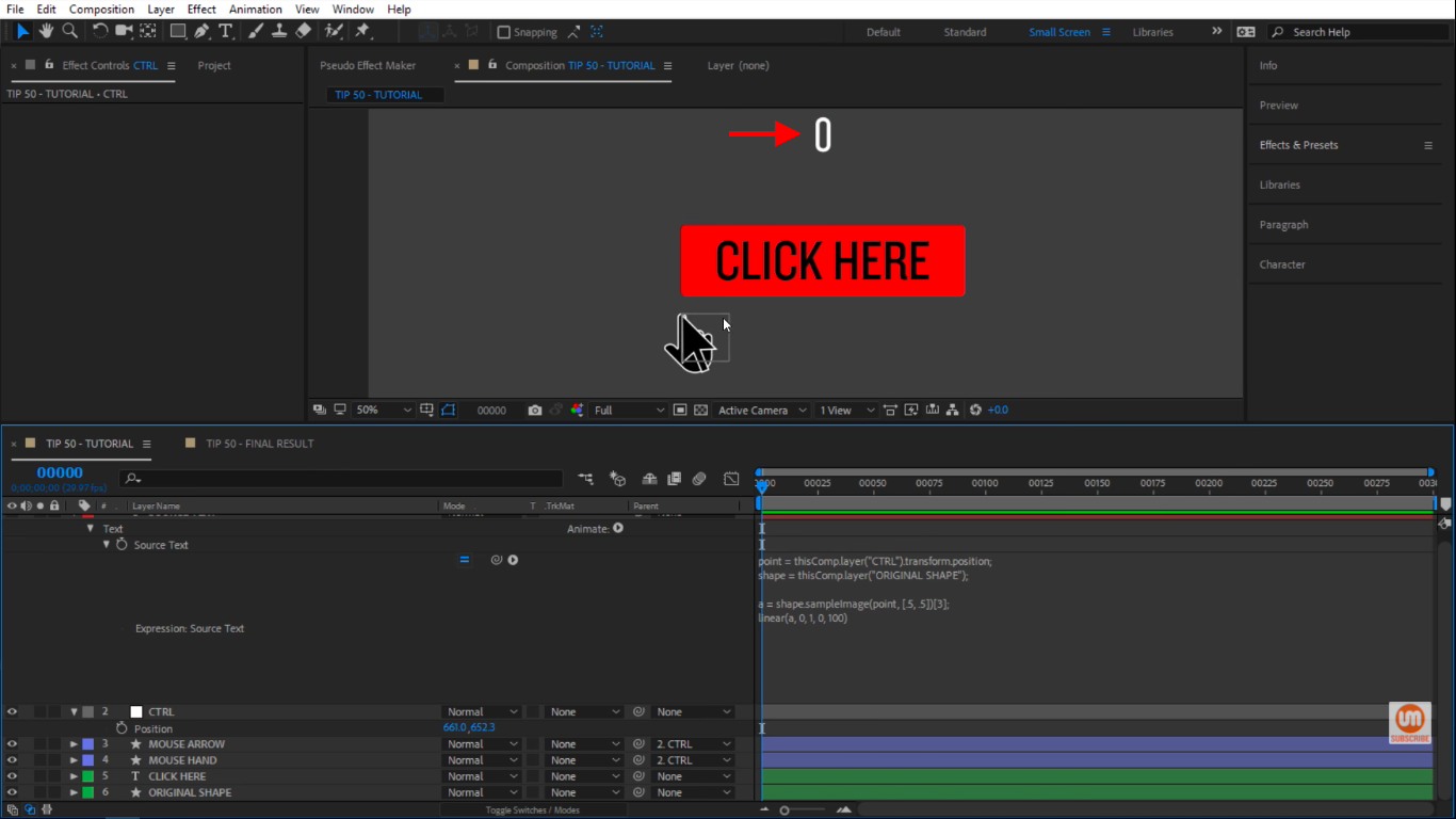 Getting 0 in After Effects