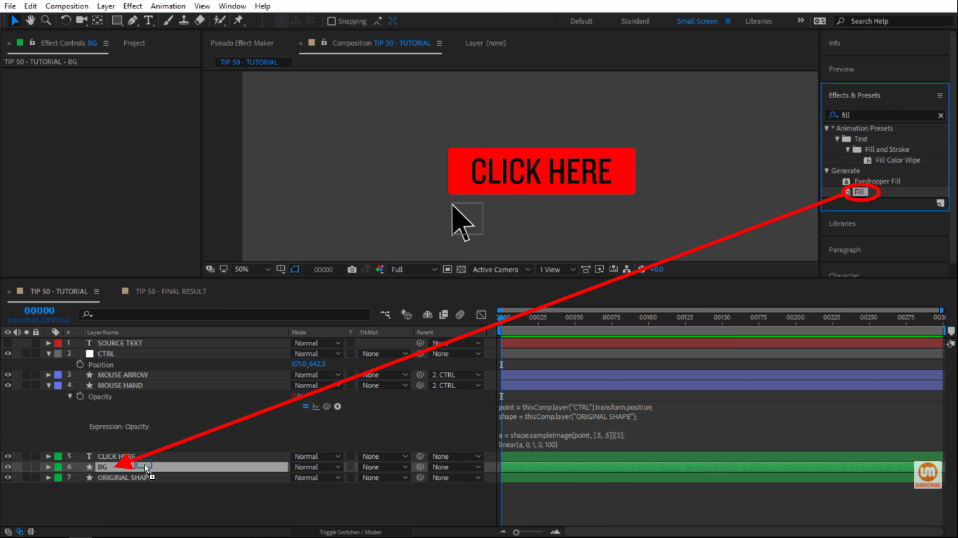 Grab fill and place it on BG in After Effects