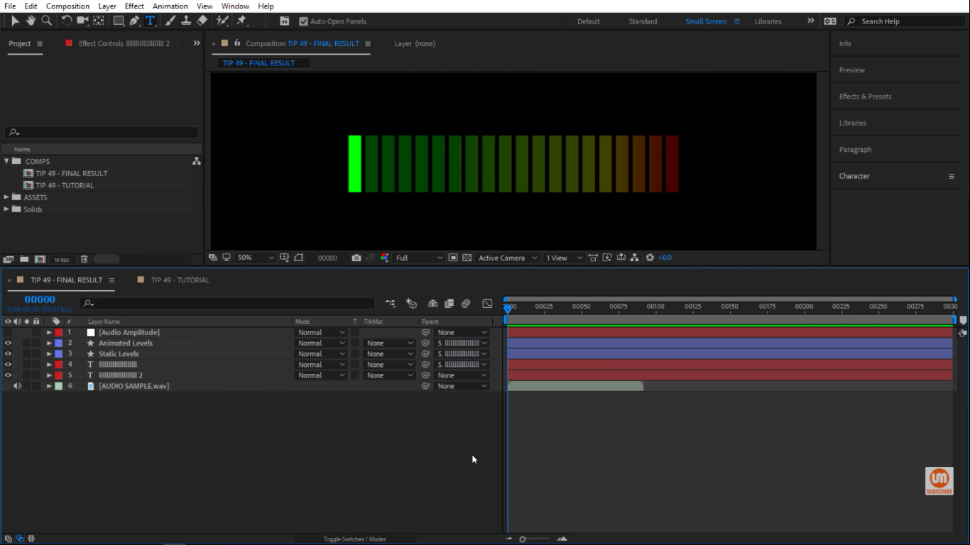 How To Create an Audio Meter Using Text & Expressions in After Effects