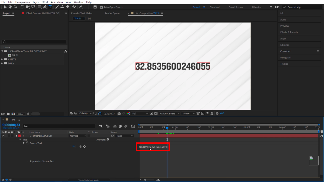 Index 0 in after effects