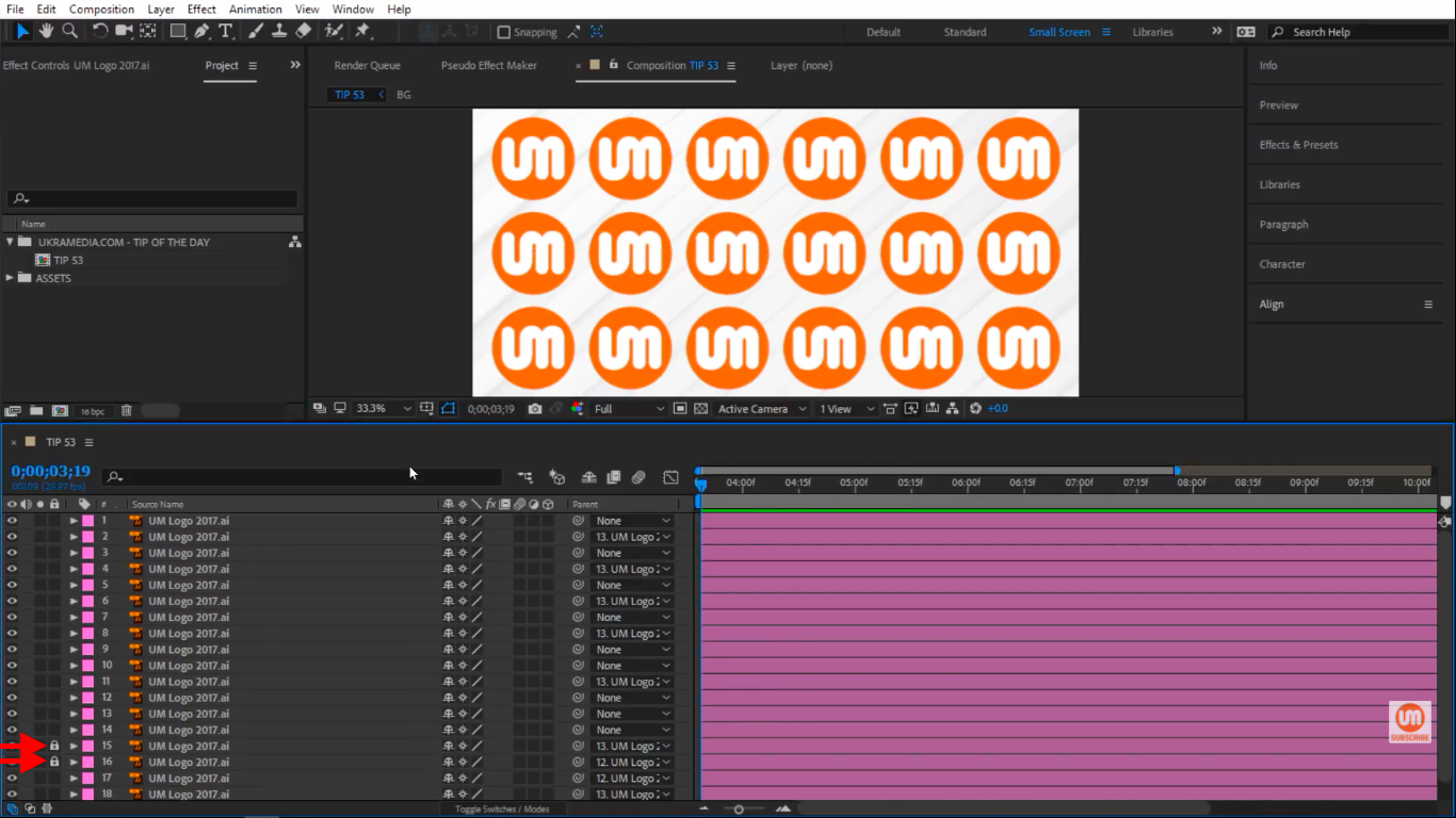 Locked Layers in After Effects