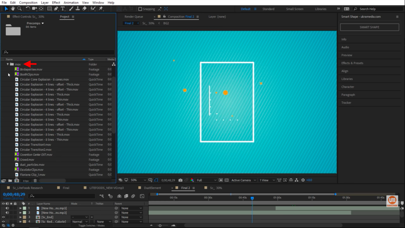 MOV files in After Effects