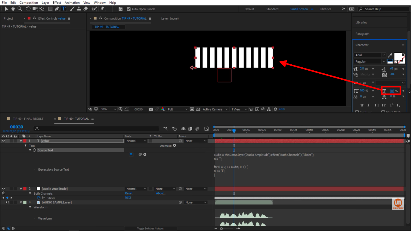Make Text fatter in After Effects