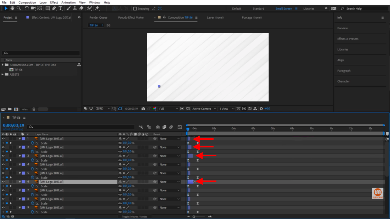 Manually adjust layers in After Effects