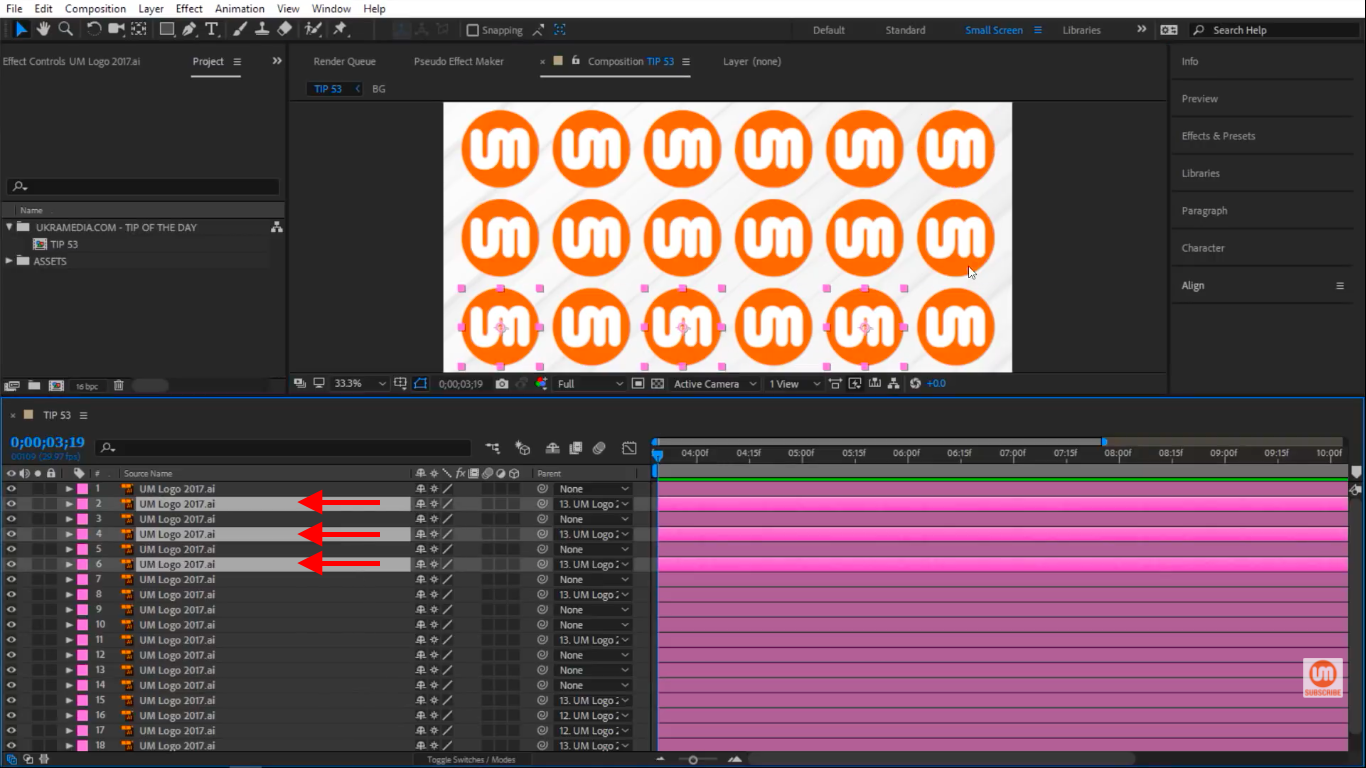Manually selecting logos in After Effects