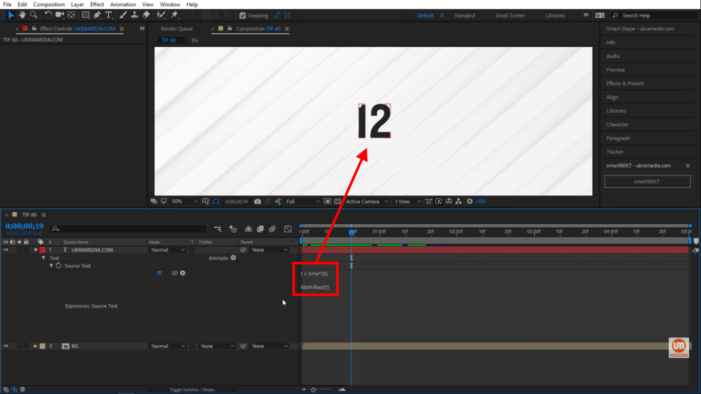 Math Floor in After Effects Rounding numbers Downwards